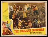 6f013 CORSICAN BROTHERS signed LC #1 R47 by Douglas Fairbanks Jr., who is helping people over wall!