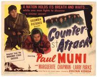 6f098 COUNTER-ATTACK TC '45 Paul Muni & Marguerite Chapman fight the Nazis in World War II!
