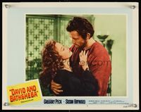 6f390 DAVID & BATHSHEBA LC #4 R60 Biblical Gregory Peck broke God's commandment for Susan Hayward!