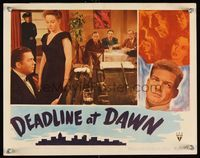 6f392 DEADLINE AT DAWN LC '46 Susan Hayward stands by Marvin Miller playing piano!