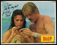 6f015 DEEP signed LC #5 '77 by Jacqueline Bisset, who's wearing only a towel by Nick Nolte!