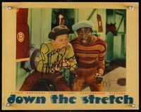 6f016 DOWN THE STRETCH signed LC '36 by jockey Mickey Rooney, who's close up with Willie Best!