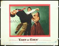 6f053 EAST OF EDEN LC#2 '55 Julie Harris tries to stop James Dean from punching Richard Davalos!