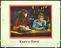 6f057 EAST OF EDEN LC#7 '55 James Dean close up at bar, John Steinbeck, directed by Elia Kazan!