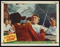 6f017 FIGHTING O'FLYNN signed LC #4 '49 by Douglas Fairbanks Jr who's super close up & losing a duel