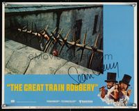 6f020 GREAT TRAIN ROBBERY signed LC #6 '79 by Sean Connery, who's pictured in the border art!
