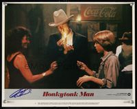 6f022 HONKYTONK MAN signed LC #1 '82 by Clint Eastwood, who's wearing a cowboy hat & lighting a cig!