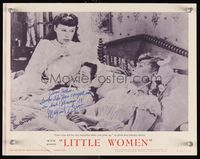 6f023 LITTLE WOMEN signed LC #5 R62 by Margaret O'Brien, who's in bed with June Allyson!