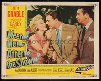 6f026 MEET ME AFTER THE SHOW signed LC #5 '51 by Macdonald Carey & Eddie Albert, who are w/Grable!