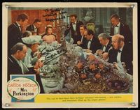 6f027 MRS. PARKINGTON signed LC #4 '44 by Greer Garson, who is at a long dining table with many men!