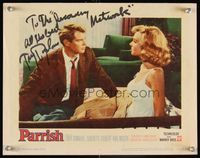 6f029 PARRISH signed LC #4 '61 by Troy Donahue, who is intently staring at a sexy blonde!