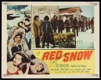 6f031 RED SNOW signed LC '52 by Guy Madison, who's outside with many soldiers & eskimos!