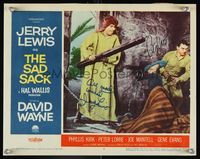 6f032 SAD SACK signed LC #4 '58 by Jerry Lewis & Peter Lorre, tripping over chains w/David Wayne!