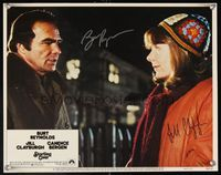 6f037 STARTING OVER signed LC #8 '79 by Burt Reynolds & Jill Clayburgh, staring at each other!