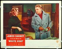 6f047 WHITE HEAT LC#3 '49 sexy Virginia Mayo loves James Cagney when he's got lots of dough!