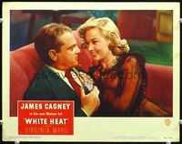 6f046 WHITE HEAT LC#4 '49 super close up of sexy Virginia Mayo cozying up to James Cagney!