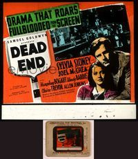 6h079 DEAD END glass slide '37 William Wyler, Sylvia Sidney, Joel McCrea, The Dead End Kids!