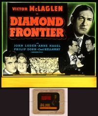 6h080 DIAMOND FRONTIER glass slide '40 Victor McLaglen mines for diamonds in South Africa!