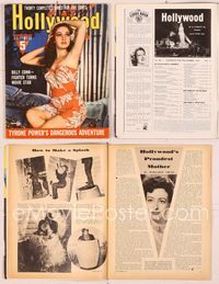6h044 HOLLYWOOD  magazine November 1941, close portrait of sexiest Dorothy Lamour in sarong!