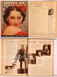 6h031 MOVIE MIRROR magazine March 1936, close portrait of pretty Norma Shearer by James Dolittle!