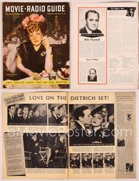 6h030 MOVIE & RADIO GUIDE magazine May 17-23, 1941, smoking veiled Marlene Dietrich by Jack Albin!