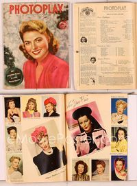 6h027 PHOTOPLAY magazine January 1945, great Christmas portrait of Ingrid Bergman by Paul Hesse!