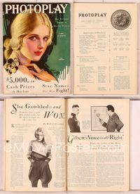 6h014 PHOTOPLAY magazine June 1930, artwork portrait of pretty Ann Harding by Earl Christy!