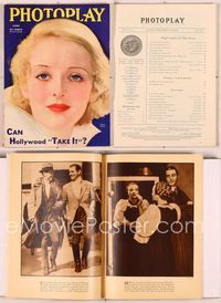 6h021 PHOTOPLAY magazine June 1933, wonderful artwork portrait of Bette Davis by Earl Christy!