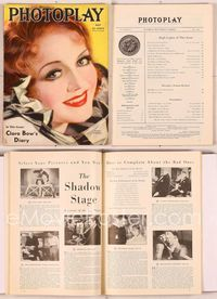 6h020 PHOTOPLAY magazine May 1933, artwork portrait of pretty Nancy Carroll by Earl Christy!