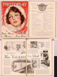 6h012 PHOTOPLAY magazine November 1928, portrait of pretty Corinne Griffith by Charles Sheldon!