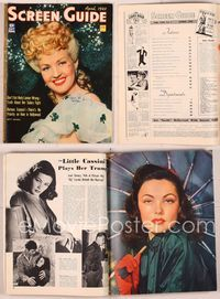 6h055 SCREEN GUIDE magazine April 1943, wonderful portrait of Betty Grable by Jack Albin!