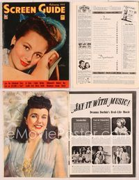 6h053 SCREEN GUIDE magazine February 1943, portrait of pretty Olivia De Havilland by Jack Albin!