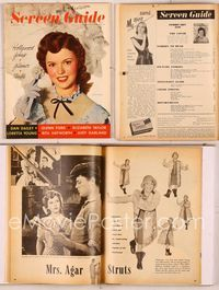 6h060 SCREEN GUIDE magazine February 1949, Shirley Temple newly married to John Agar!