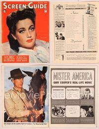 6h052 SCREEN GUIDE magazine January 1943, close portrait of Dorothy Lamour by A.L. Schafer!