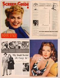 6h046 SCREEN GUIDE magazine July 1942, great smiling portait of Carole Landis by Jack Albin!