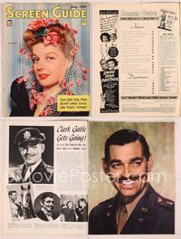 6h058 SCREEN GUIDE magazine July 1943, close portrait of Ann Sheridan by Jack Albin!