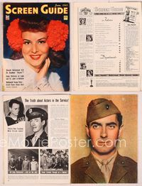 6h057 SCREEN GUIDE magazine June 1943, portrait of Paulette Goddard by A.L. Whitey Schafer!