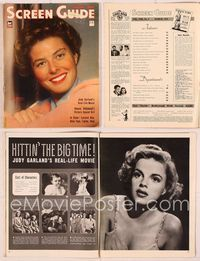 6h054 SCREEN GUIDE magazine March 1943, great smiling portrait of Ingrid Bergman by Jack Albin!