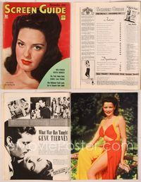 6h050 SCREEN GUIDE magazine November 1942, sexy close portrait of Linda Darnell by Frank Powolny!