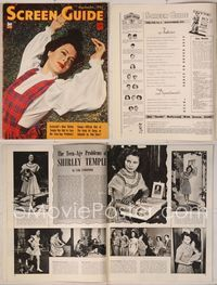 6h048 SCREEN GUIDE magazine September 1942, portrait of Hedy Lamarr laying in grass by Jack Albin!