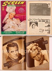 6h033 SCREEN ROMANCES magazine April 1940, c/u of Jeanette MacDonald in wild outfit from New Moon!