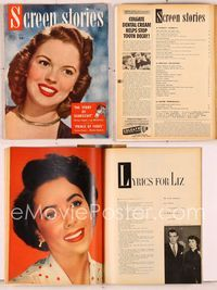 6h034 SCREEN STORIES magazine December 1949, Shirley Temple in The Story of Seabiscuit!