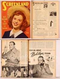 6h037 SCREENLAND magazine June 1947, great smiling portrait of Shirley Temple by Jack Albin!