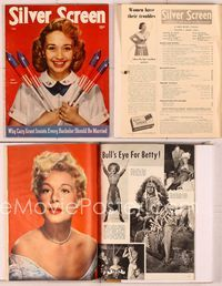 6h038 SILVER SCREEN magazine July 1950, great patriotic portrait of Jane Powell with firecrackers!