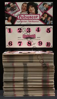 6h010 POLYESTER ODORAMA SCRATCH & SNIFF CARD lot of 475 unused cards '81 John Waters Smell-O-Vision