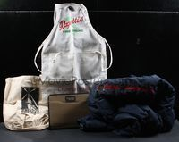 6h008 PROMO BOX 4 jacket, apron, tote bag & portfolio '90s-2000s Fat Albert, Grumpier Old Men,more!