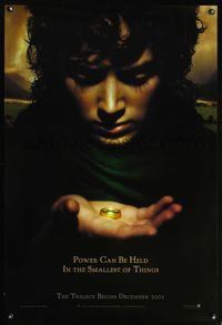 6s352 LORD OF THE RINGS: THE FELLOWSHIP OF THE RING DS power teaser 1sh '01 J.R.R. Tolkien