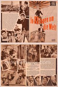 6z116 AROUND THE WORLD IN 80 DAYS German program '56 all-stars, great different images!