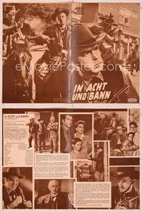 6z118 AT GUNPOINT German program '55 different images of cowboy Fred MacMurray + Dorothy Malone!