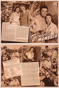 6z120 BEYOND MOMBASA German program '57 many different images of Cornel Wilde & Donna Reed!